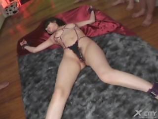 ασιατικό, Blindfold, Bondage, φετίχ, ιαπωνικό, μεγάλος, γαργαλητό, δεμένη