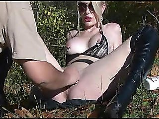 Golden-haired Acquires Her Cum-hole Fisted Outdoors Menacing-menacing Non-professional Porn At Thisvid Tube