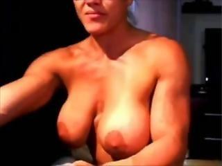 gros téton, nue, webcam