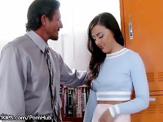 Big Dick Teacher Nails Nerdy Schoolgirl Whitney Wright