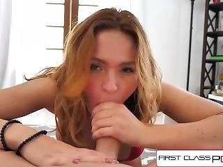 Firstclasspov - Krissy Lynn Take A Monster Cock In Her Throat, Big Boobs