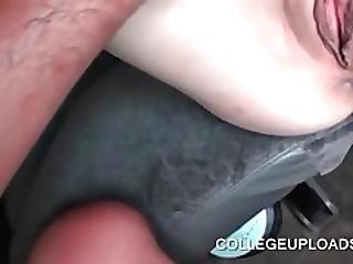 Hot Ass Gf Humping Dick On The Car Backseat