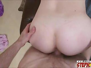 Teasing MILF caught stepdaughter and bf