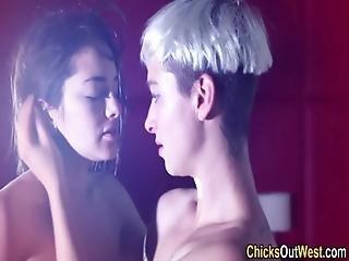 Amateur Lesbian Licks Ass