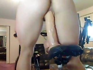 Riding Cock On The Bicycle
