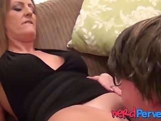 Uk Vixen Lets Nerd Have A Taste Of Her Sweet Pussy