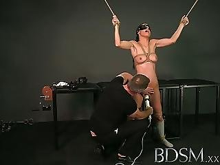 Bdsm Xxx Tied Up Sub Beauty Gets Masters Full Attention