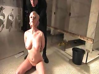 Cherry Torn Has Chained And Brutally Mouth-fucked By Couple Guys