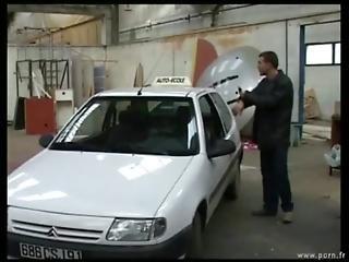 Blowjob, Car, Cumshot, Fucking, Garage, Handjob, Pussy