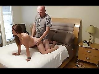 Amateur Teen With Grandpa