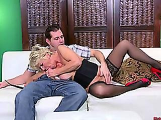Mature Milf Fucks Her Youthful Stud