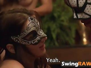 Masked Amateur Swingers Enjoying In Reality Show