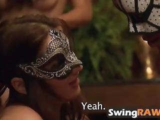 Masked Amateur Swingers Enjoying In Reality Show