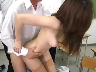 A Busty Teacher Got Fucked