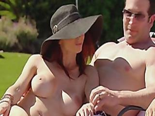 Young Swingers Having Fun Outdoors