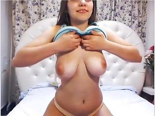 Gap Tooth Teen Showing Monster Titties