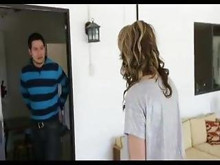 Sister Catches Step Brother Spying
