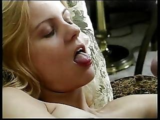 Sexy Blonde Babe Gets Cum On Her Nice Tits After Sucking Dick Getting Fucked