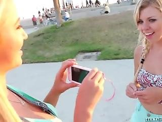 Skateboard Beach Babes Tara Morgan Mandy Armani