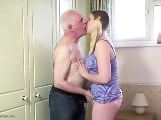 Chubby Teen Pussy Filled With Old Cock