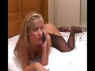 Wife Gangbanged With Husband On Phone