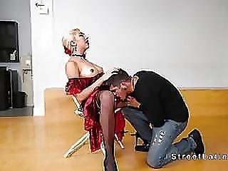 Latina Dancer Bangs In Stockings