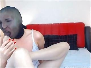 Blond With Nylon Face Lick Her Nylon Feet