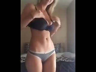 Blound Woman Play With Herself