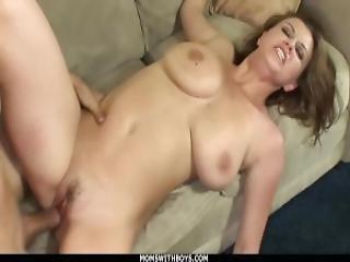 Momswithboys Boob Fucked Milf Sara Stone Takes On Big Cock