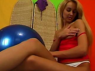 Girl With A Big Ball