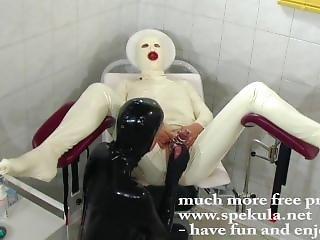 Rubber Nurse Have Fun With Patient Cock