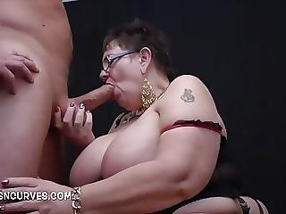 Granny Makes His Cock Big And Hard