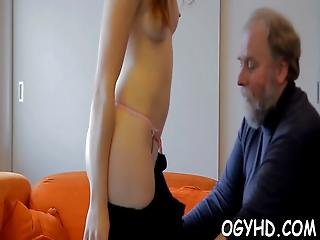 Horny  Babe Screwed By Old Guy
