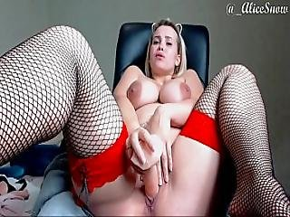 Pregnant Sexy Goddess Suck Huge Dildo
