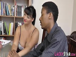 Mature British Doctor Gets Pounded By Big Black Cock In Threesome