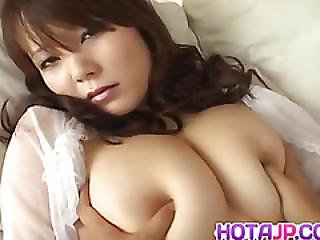 Sayaka Minami Has Big Cans Fondled And Dark Cunt Filled With Cum
