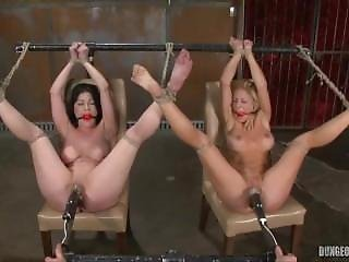 Two Sluts Fucked In The Dungeon.