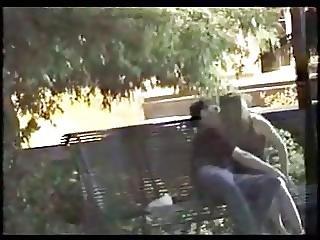 Amateur Voyeur Caught Outdoor Bench Fingering