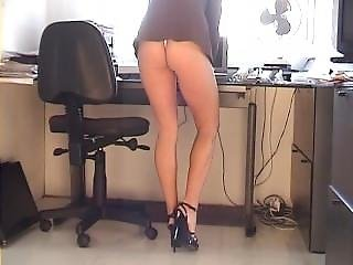 Karen White Mini-dress Upskirt