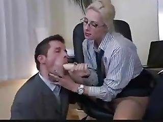 Kinky Threesome In The Office