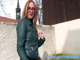 Publicagent Sexy Student Fucking In The Bushes