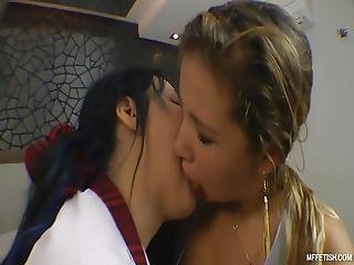 I Kissed A Girl It Was Hot Two Naughty Slave Girls