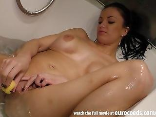 Using Her Big Fake Tits As A Flotation Device While Underwater Masturbating