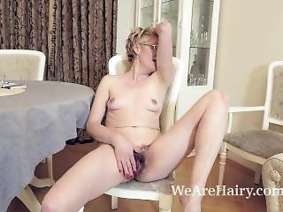 Barbara Strips Naked And Masturbates On Her Carpet