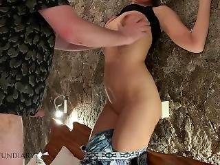 Stepbrother Pushes Me To Stone Wall And Fucks Me Hard In Ass Anal Creampie