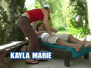 Teen Kayla Marie Fucks In The Garden House