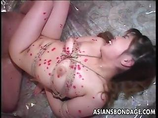 Asian, Bdsm, Big Tit, Blowjob, Bondage, Doggystyle, Ffm, Fishnet, Fucking, Japanese, Latex, Lingerie, Slave, Stocking, Threesome, Wax