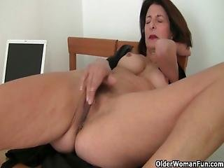 French, Grandma, Granny, Mature, Milf, Mom, Mother, Old, Solo
