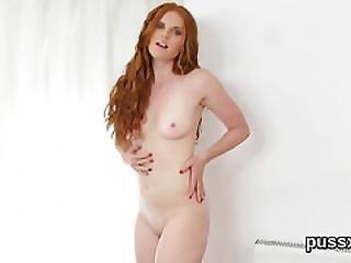 European Chick Enjoys Speculum And Pokes Monster Dildo In Vagina