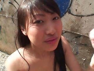 Chinese Amateur Girl Does A Public Blowjob